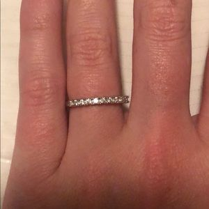 Simple silver diamond band (CZ)